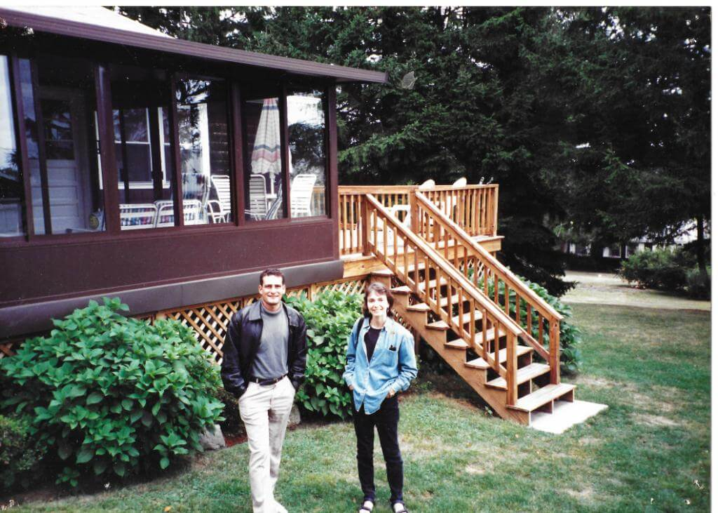 The beach house, Narragansett, Rhode Island circa 1998, my sister Leslie to right