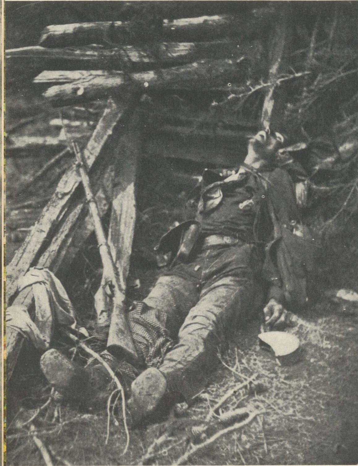 rebel killed at Spotsylvania