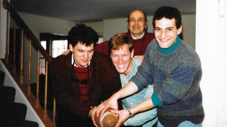 3 Fab Fivers: Andre Marquis, Phil Ghyzel, David Kramer. Above, Eugene Kramer. Sometime in the 1980s.