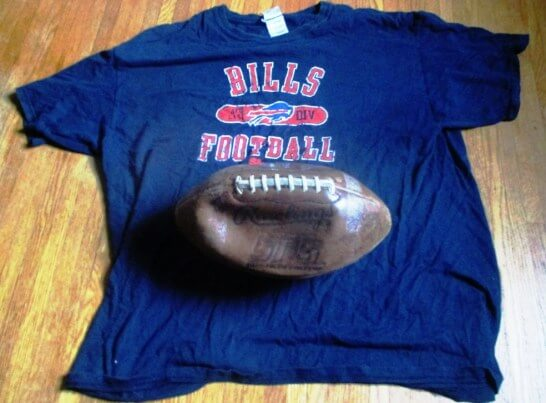 From Despite the lifting of the curse, Peterman and the Jill-less Bills drop the ball.