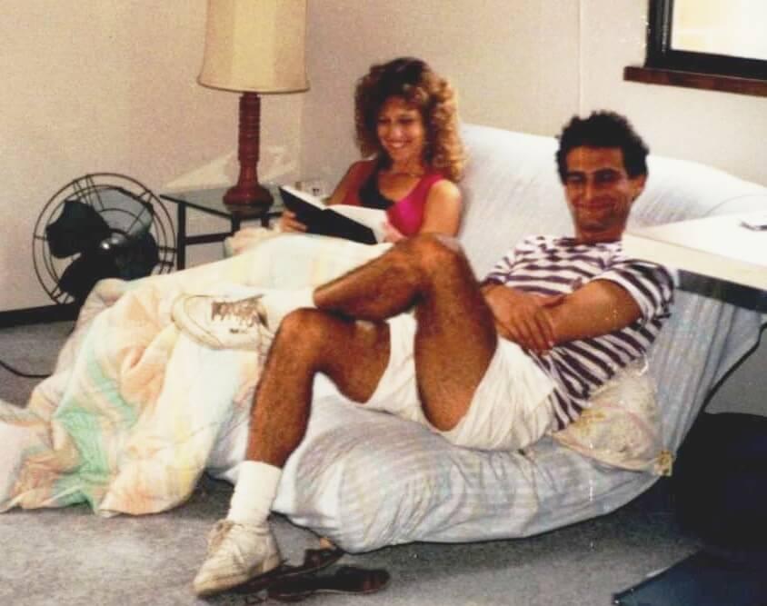 (Debra Beilke (left) with David Kramer, Franklin Street Apartments, Madison, WI, August 1992