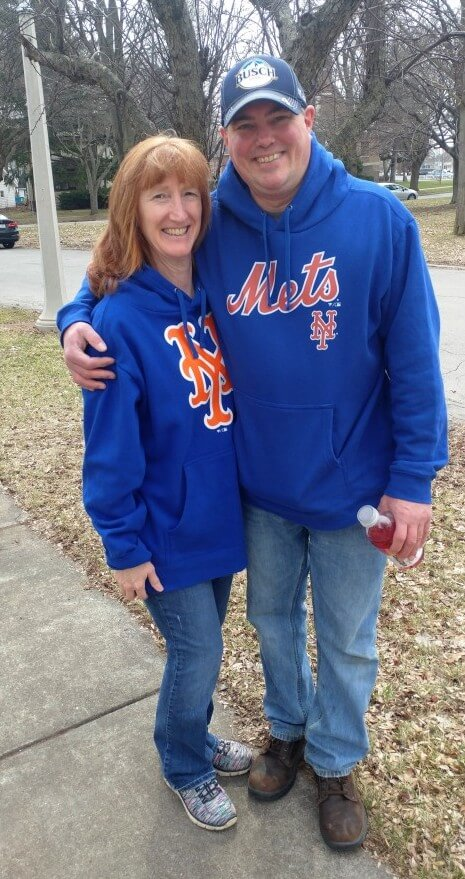 UPDATE: On Monroe Avenue, I spotted two die hard Mets fans, Jackie and Adam.  Some of their favorite players over the years are Keith Hernandez, David Wright and Jacob DeGrom. Next week, Jackie and Adam plan to see Tim Tebow of the Syracuse Mets play at Frontier Field. 4/7/19